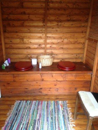 Cae Wennol Yurts: toilet