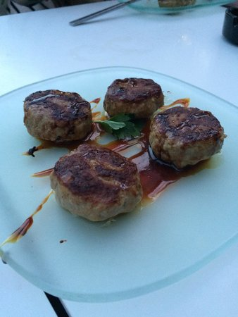 Lateral : Mini pork burgers