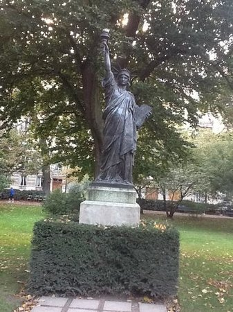 Miniature Statue Of Liberty In The Gardens Picture Of Luxembourg Gardens Paris Tripadvisor