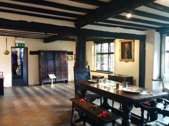 Shakespeare's New Place: One of the world's first chest of drawers is at the back of this photo!