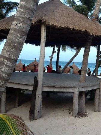 La Zebra Beach Restaurant and Tequila Bar: Great bar on the beach