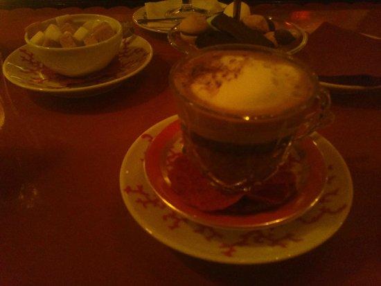 Stikliai Restaurant: Coffee with Baileys