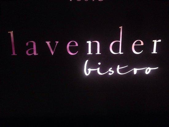 Lavender Bistro : The Sign
