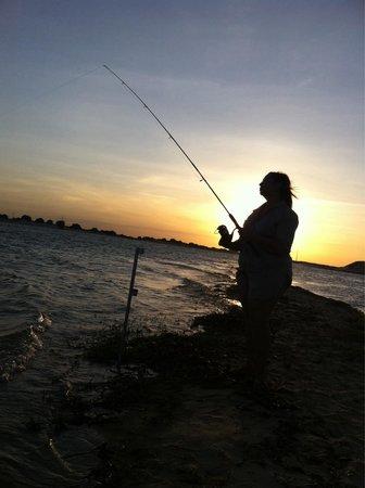 Pousada Peixe Galo: Pescando.. Sem stress