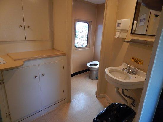 Blue Ridge Scenic Railway: The bathroom on our car