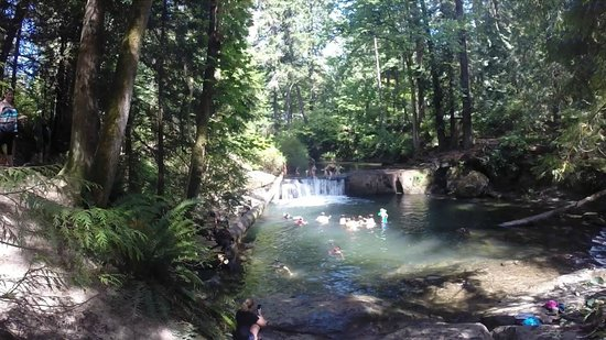 Bellingham, WA: Waterfall Jumping with Preschoolers