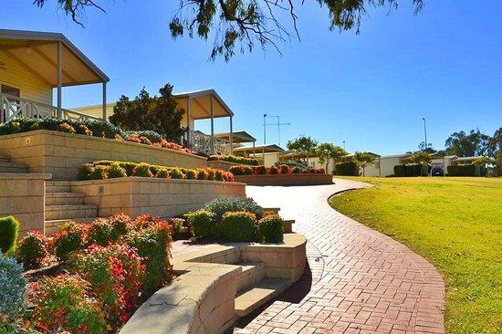 Euston Club & Cabin Resort: Cabin Grass Area