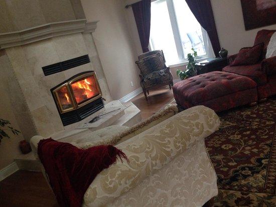 Jabberwock Guesthouse: Warm fire