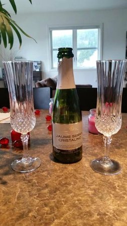 Eastsound Suites: Champagne Toast!