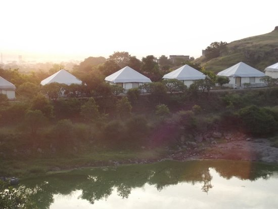 Fort JadhavGADH: View of tents from the hill