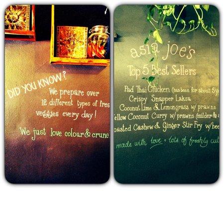 Asia Joe's: The writings on the wall