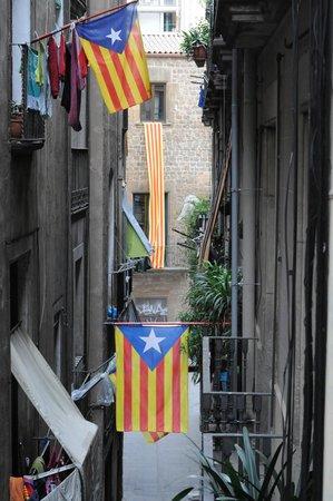 Itaca Hostel: Widok z okna