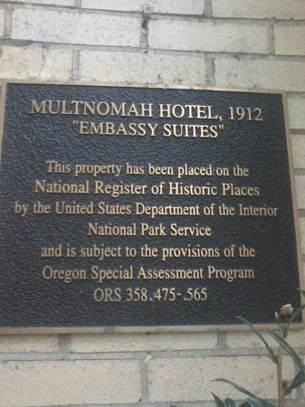 Embassy Suites by Hilton Portland - Downtown: The origional name of the hotel way back when.