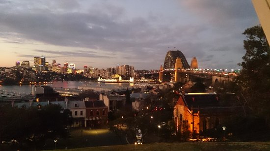 View from Observatory Hill at dusk
