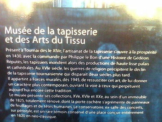 Tournai est r put pour le textile photo de musee de la for Comment enlever de la tapisserie