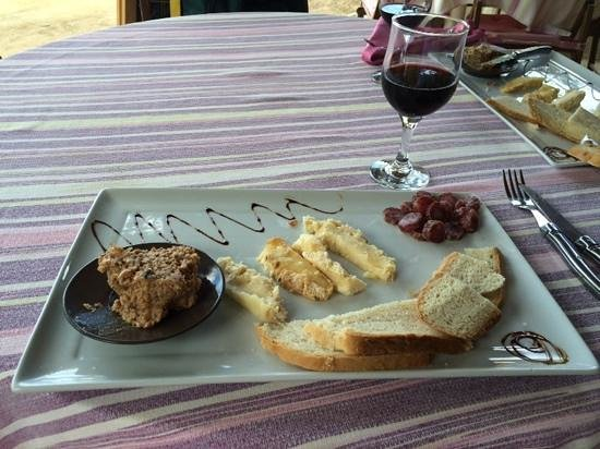La Table d'Arno: lunch plate at villa rosa