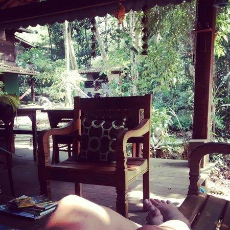 Pousada Ouro Verde: Vista da Área do Café da Manhã