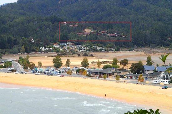 Kimi Ora Eco Resort: Kaiteriteris Aussichtsbalkon !