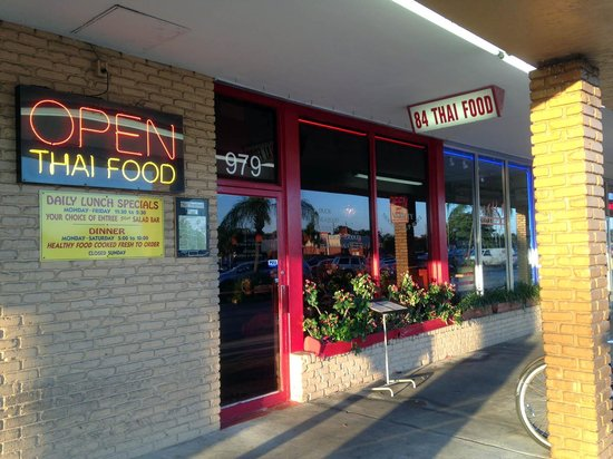 84 Thai Food: Look for this small storefront for 84 Thai in shopping center