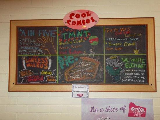 Menu board - Picture of Amy's Ice Cream, Austin - TripAdvisor