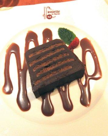L'assiette du marche : Terrine de Chocolat