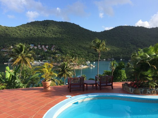 Marigot Palms Luxury Caribbean Guesthouse and Apartments: vue de la piscine