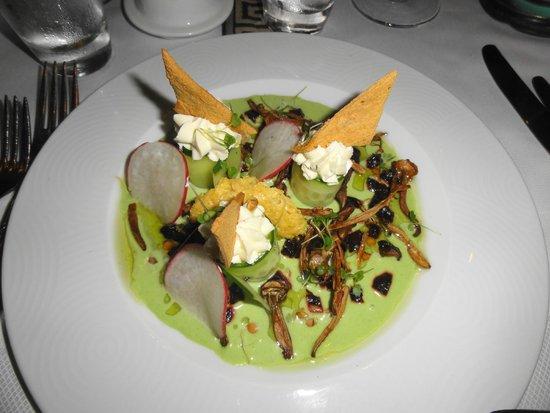 The Grill Room: Fungi and pea puree