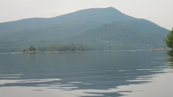 Blue Mountain Lake Boat Livery: Blue Mountain rises at the head of Blue Mountain Lake