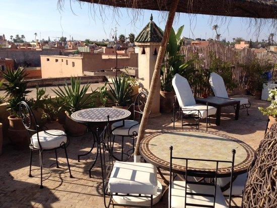 Riad Mur Akush: Upper roof terrace