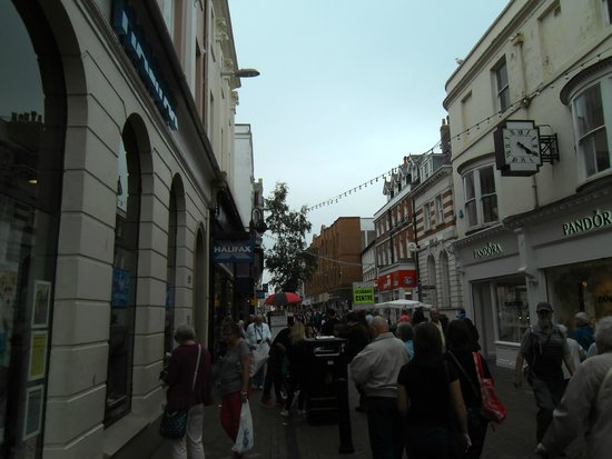 Weymouth, UK: A street in the Shopping Centre