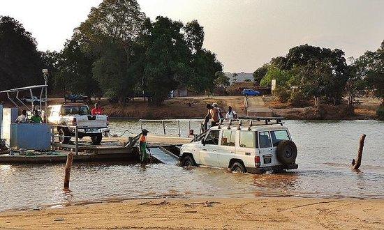 Tsingy de Bemaraha Strict Nature Reserve: Ferry crossing on way to Tsingy