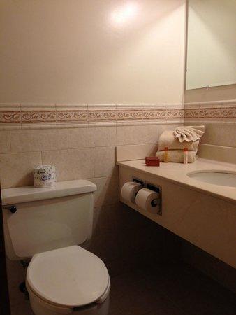 Royal Atlantic Beach Resorts: Bathroom view from bathroom door.