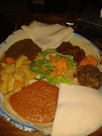 Im Herzen Afrikas: Mix of african food