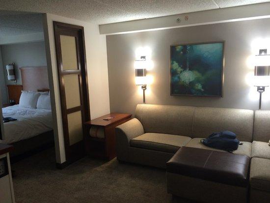 sitting area picture of hyatt place fair lawn paramus. Black Bedroom Furniture Sets. Home Design Ideas