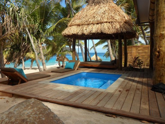 Naukacuvu Island, Fidschi: Villa deck
