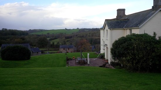 Devon Country Barns: View into the valley. The owners live in the white house