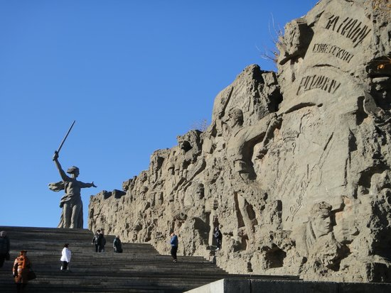 High-relief on the Ruins on Mamayev Hill