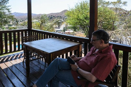 Hilltop Guesthouse: Terrace with a view