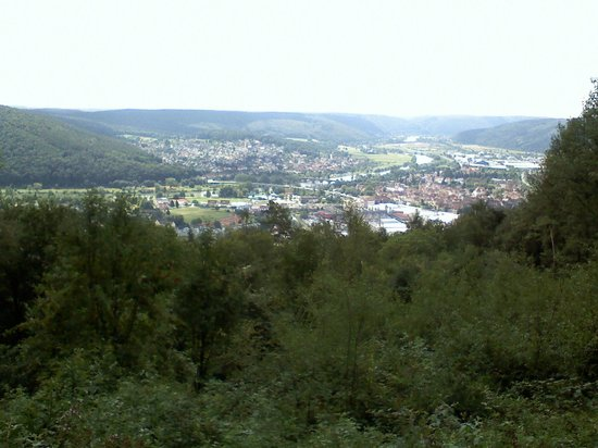 Hotel Franziskushöhe: View over Lohr-am-Main
