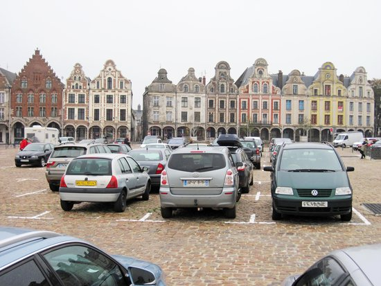 arras garnd place spoilt by car parking in square picture of grand place arras tripadvisor. Black Bedroom Furniture Sets. Home Design Ideas