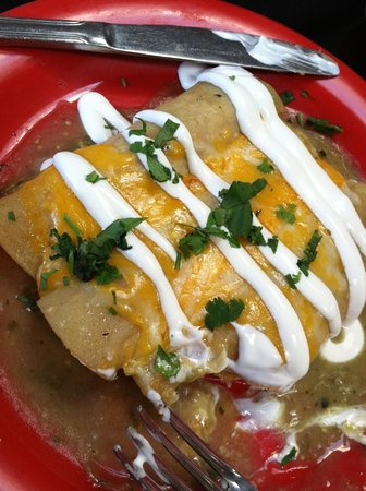 The Red Cadillac..Tacos & Tequilas: enchiladas