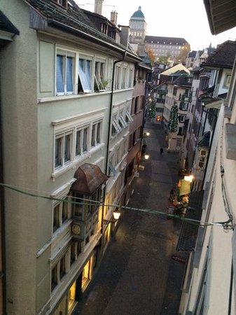Hotel Wellenberg: view from the room