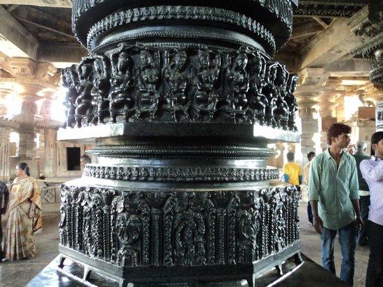 Telangana, India: Sculpture @ Ramappa Temple