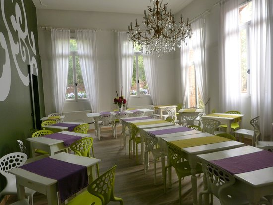 Stella Alpina Edelweiss : El comedor, a la mañana, hermoso
