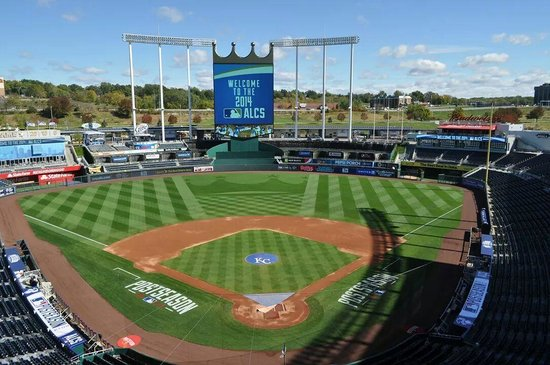 Kauffman Stadium Kaufman During 2014 World Series View From 2 Rows Deep Standing Room Only
