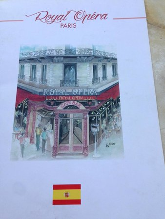 Royal Opera Restaurant: carta en español