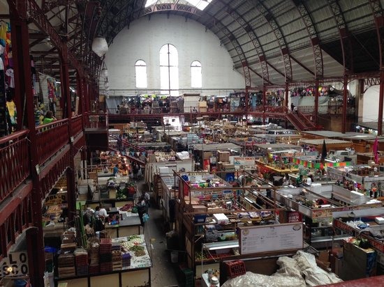 Mercado Hidalgo: View from the top of the market