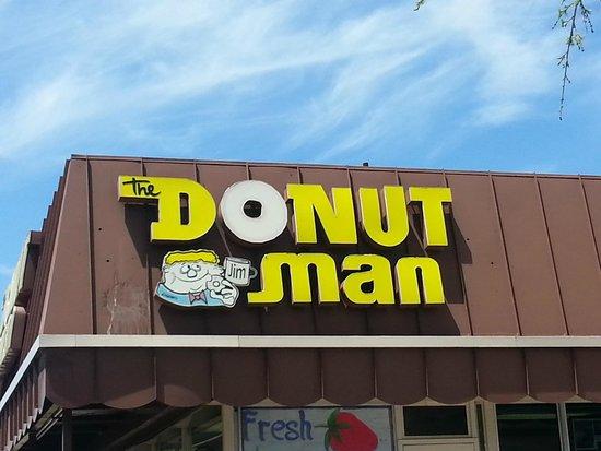 Donut Man: unique retro logo