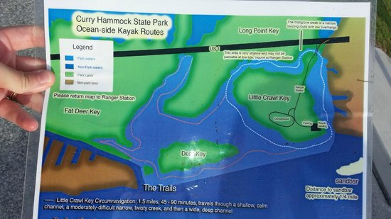 curry hammock state park  map provided by ranger station    very useful  map provided by ranger station    very useful    picture of curry      rh   tripadvisor