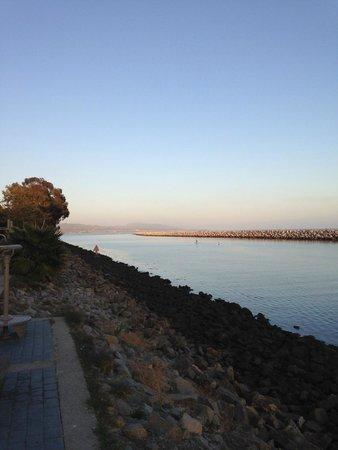 Dana Point, CA: Island Way, looking towards San Clemente